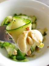 Zucchini Ribbon Salad w/ Coconut Mint Dressing